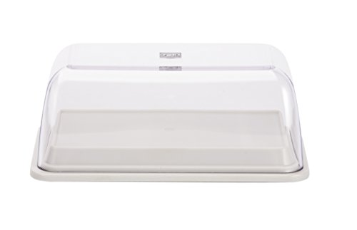 plastic double butter dish - 7