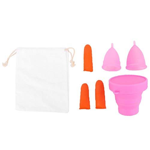 Copa menstrual Silicona Femenina Señora Mujeres Higiene Copa menstrual de silicona Segura Reutilizable con diferente capacidad