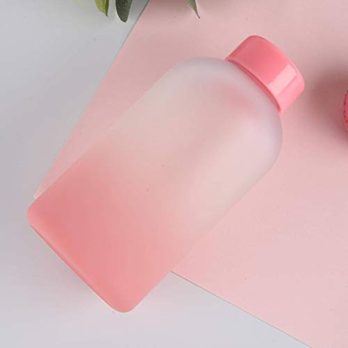 N-B Cute Frosted Gradient Color Water Bottle Girl Daily Portable Drinking Bottle With Lid