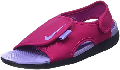 Nike Sunray Adjust 5 V2 (GS/PS), Scarpe da Ginnastica, Fireberry/Purple Pulse-Thunder Blue, 40 EU