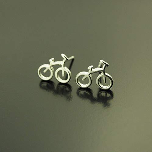 925 Sterling Silber Ohrstecker Fahrrad rad fahren Stecker Juvelato