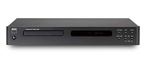 NAD C 538 HiFi CD Player Grafito Reproductor de CD - Unidad de CD (110 dB, 0,01%, MP3,WMA, 20-20000 Hz, CD de Audio, VFD)