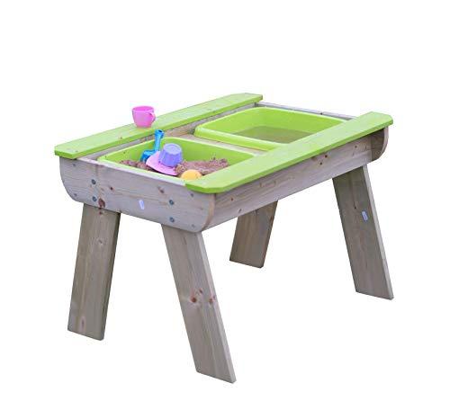Wendi Toys Sand Wasser Picknicktisch Kindertisch Gartentisch Wassertisch Spielzeugtisch inkl. Wannen