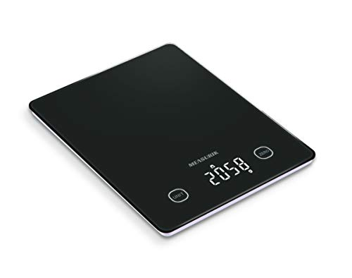 Measurik Digital Food Kitchen Baking Scale - Multifunction High Accuracy Measurement Cooking Weighing Scale Up to 11lb/5kg Weigh Gram/Oz and Milk Volume, Batteries Included
