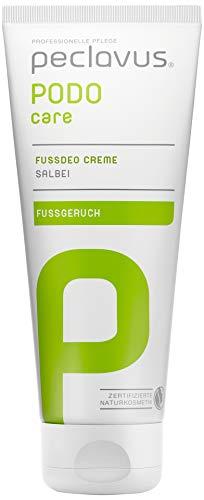 Peclavus Basic Fußdeo Creme, Fußcreme gegen Fußgeruch, mit Salbei, 75 ml