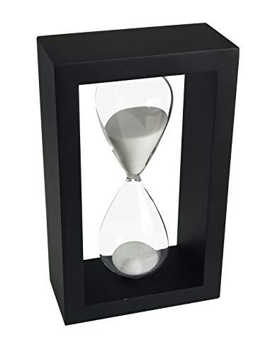 Lodunsyr Sanduhr-Timer für 45 Minuten Dekoration für Kinder Zimmer Geburtstag Tee Kaffee Tabelle Bücherregal Schulspiel Ornament Hölzern Rahmen Sanduhr Uhr Weiß