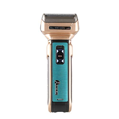 Men's Razor, Reciprocating Double-Head Multi-Function Electric Razor, Rechargeable Razor, Nose Hair Trimmer, Haircut, Best Gift for Men,Gold