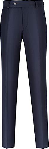 STENSER B40A Jungen Anzughose Schuluniform Elastische Taille, Marineblau, 134 R (Label 32/134)