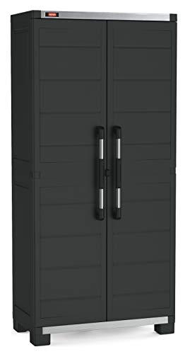 Keter Garage hoge kast XL met 3 planken, zwart
