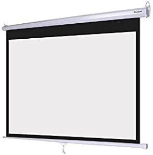 """New PRJSM9406 84/"""" Roll /& Pull Down Manual Projection Screen 50.3/""""x67.3/"""" White"""