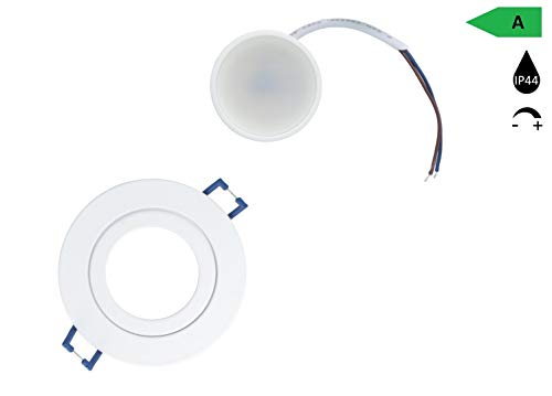 LED inbouwspot dimbaar warm wit IP44 plafond spots LED 5W-warm wit in wit A+ lampen voor plafond