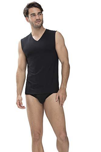Mey Basics Serie Dry Cotton Herren Shirts ohne Arm Schwarz 6