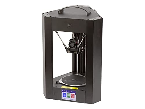 Monoprice Mini Delta v2 3D Printer (110 x 120mm) Heated Build Plate, PoloPrint Pro Wi-Fi, Auto Resume, Advanced Gcode Auto Leveling, Open Source, Works with PLA & ABS