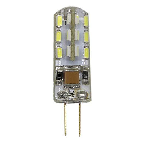 mengjay®, G4 LED-lamp parels 1,5 Watt, koud wit 6000 K LED-lampen, 24 SMD 3014 LED's 360 ° stralingshoek, AC 220 V/AC 12V, 1 stuks