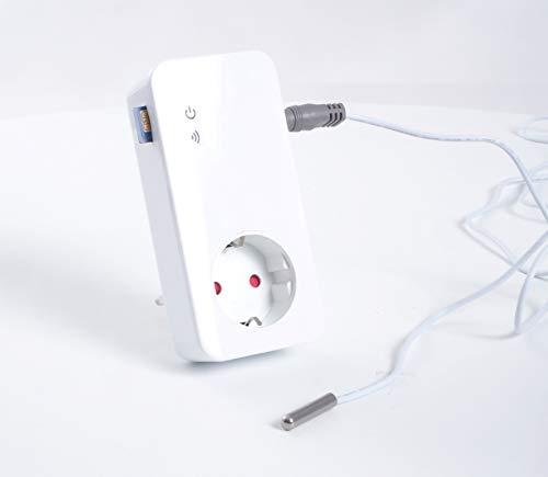 DRH-301-V4-DIGITAL : Frostwächter, Temperaturwächter, Temperaturschalter, Hitzewarner, Stromausfallwarner mit DIGITALSENSOR (Wasserdicht) Temp. Messung Luft, Boden, Flüssigkeiten, Kühltruhen etc.