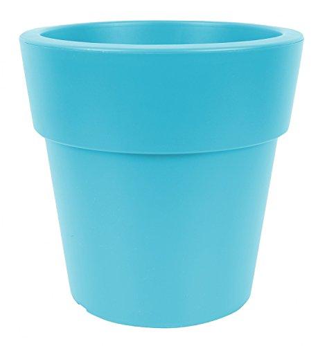Linea D = 20 cm H = 17 cm Bleu pétrole Pots Jardinière Pot Jardinière Pot à Herbes Jardin Pot de repiquage Pots Pot Pot balcon pot fleurs plastique
