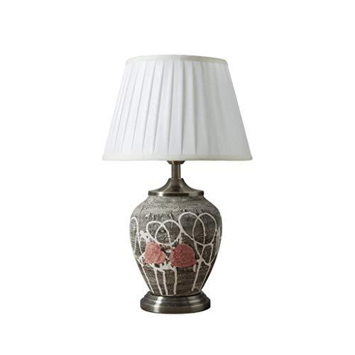 Simplicidad Práctica Lámparas de Escritorio Lámpara de Mesa Minimalista Moderno Sala de Estar de Bambú Pintada a Mano Dormitorio Estudio Mesita de Noche Iluminación Decorativa, DTTX001, 33 * 55 cm
