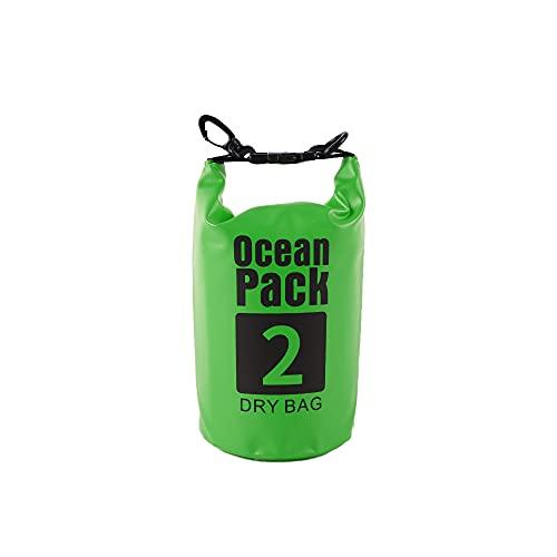 Grevosea Bolsa impermeable de 2 L, 5 L, 10 L, ligera bolsa seca con correa larga ajustable para el hombro, perfecta para la navegación, canotaje, kayak, pesca, rafting, natación.