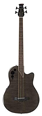 Ovation AEB4IIP-TBKF Elite Exotic Acoustic-Electric Bass Guitar