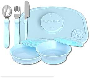 Twistshake Tableware Kit Blue Color Brand Box (Worth $65.60)