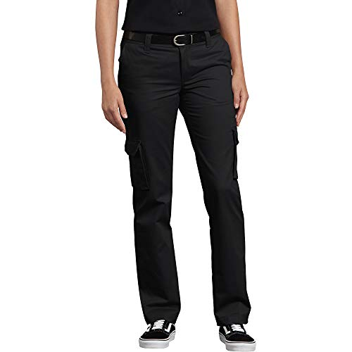 Dickies Damen Relaxed Fit Stretch Cargo Straight Leg Pant Arbeitshose, schwarz, 34