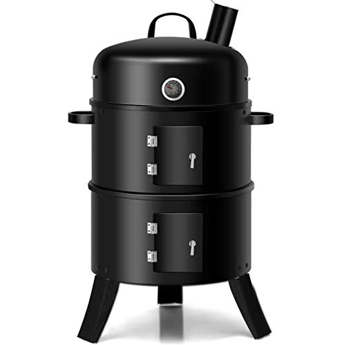 Charcoal Grill Combos with Smoker BBQ Barbecue Outdoor Patio Camping Grilling Portable Built-in Thermometer