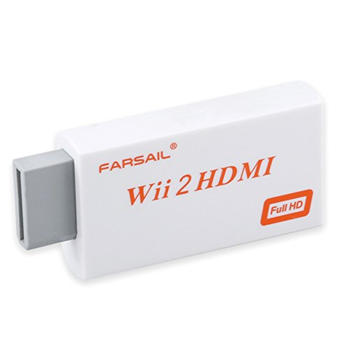 FarSail Wii to HDMI - Wii Adapter for HDMI Cable Output Upscaling Video Audio Converter Support All Wii Display Modes