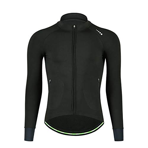 LINGYUN Mens Thermal Cycling Jacket, Waterproof Winter Fleece Bike Apparel Windproof Road Bike and Mountain Bike Jersey for Outdoor Cycling,3XL