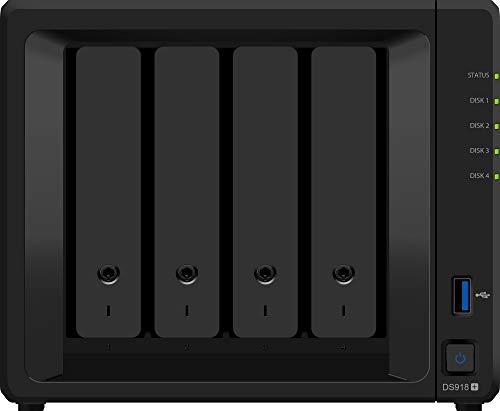 Synology DiskStation DS918+ Collegamento ethernet LAN Scrivania Nero NAS