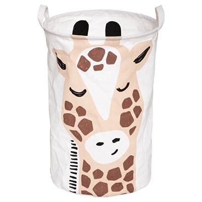 DreamHouse Bonita cesta para juguetes con diseño de jirafa, caja de almacenamiento para bebés y niños, caja de juguetes para la habitación de los niños, bolsa plegable para la colada.