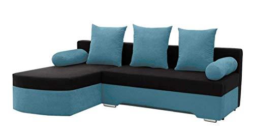 Mirjan24 Ecksofa Smart! Sofa Eckcouch Couch! mit Schlaffunktion und Bettkasten! Ottomane Universal, L-Form Couch Schlafsofa Bettsofa Farbauswahl (Alova 29 + Alova 04)