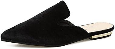 Dear Time Women Pointy Toe V-Cut Elegant Flats Slip-on Shoes