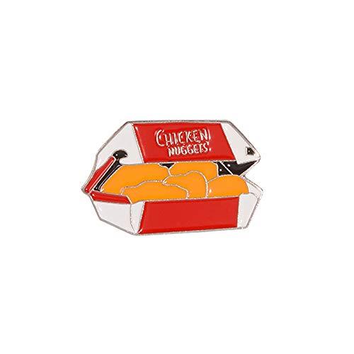 Fast food poulet nouilles émail broche délicieux nourriture punk revers badge bouton broche viande club personnalisé logo équipe bijoux cadeau