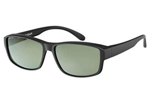 IKY Eyewear overzet zonnebril OB-0004A zwart solid