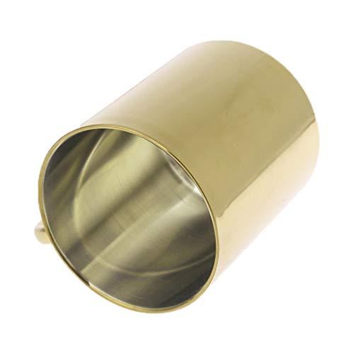 Tazas de café personalizadas creativas – Taza de café – Acero inoxidable chapado en oro y latón taza de doble pared para vino y vaso de café