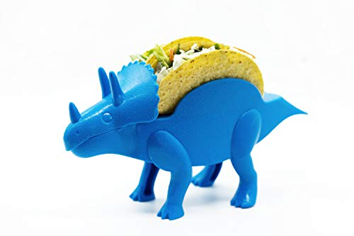TacoDinos Taco Holders – 1 Blue Dinosaur Taco Stand – Taco Tuesday Kids Accessory – Dinosaur Tortilla Blanket – BPA-free Burrito Stand for Children – Fun & Cool Meal Holder