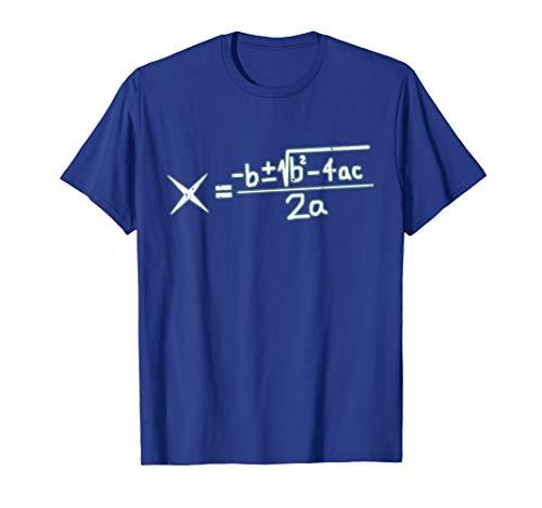 Quadratic Formula Algebra Math Lover Gift T-Shirt