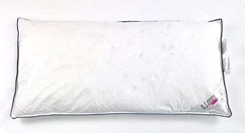 Iore Federkissen Kopfkissen Gänse 40x80-80x80, Baumwolle Bezug, Weiß, 1 oder 2 stück Schlafkissen Federn Kissen (40 x 80 cm)