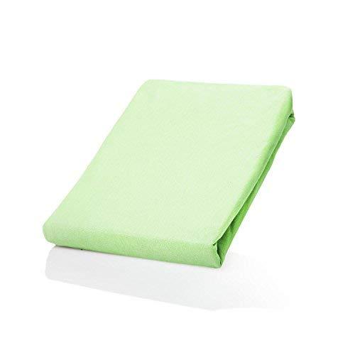 Lumaland - Jersey hoeslaken - elastische rand - 100% katoen - 160g/m² 140 x 200 cm - 160 x 200 cm - Groen