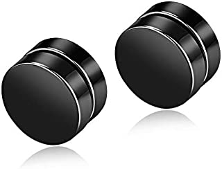man funky Magnet Clip earring black color