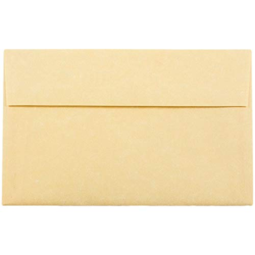 JAM PAPER A10 Parchment Invitation Envelopes - 6 x 9 1/2 - Antique Gold Recycled - 50/Pack