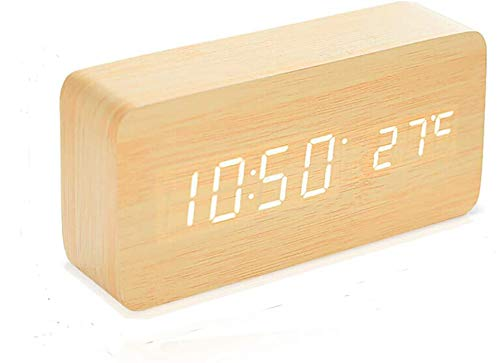 Despertador Digital Madera  marca Hoogtecly