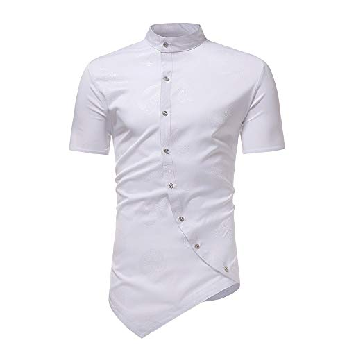 waotier Camisetas De Manga Corta para Hombre Camisa con Cuel