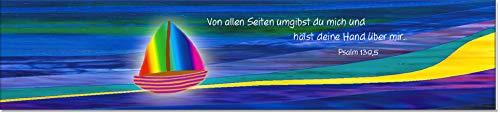 Lesezeichen aus Metall mit gerader Kontur   Segelboot #9910008