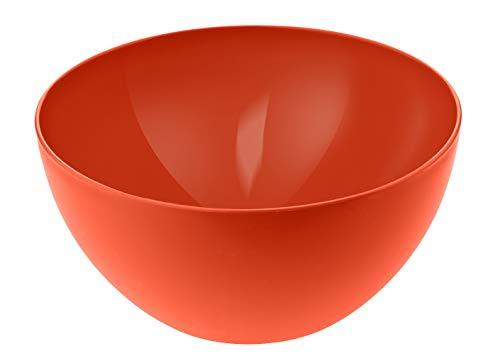 Rotho Schüssel Caruba 0,45l Rot, Polypropylen, Papaya Red, 12.5 X 6 cm