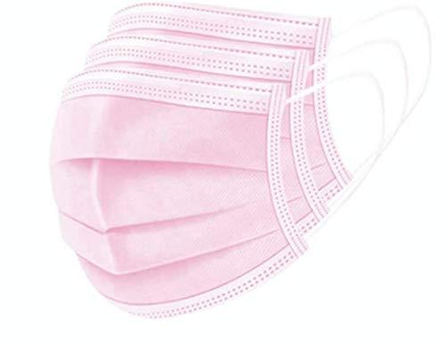 50X Einweg Mundschutz Masken Rosa Gesichtsmasken 3-Lagig Mund-Nasen-Bedeckung