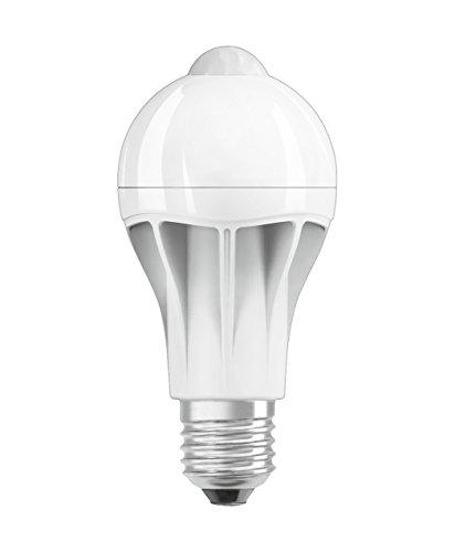 Osram LED Star+ Motion Sensor Classic A Lampe, in Kolbenform mit E27-Sockel, integrierter Bewegungssensor, Ersetzt 75 Watt, Matt, Warmweiß - 2700 Kelvin, 1er-Pack