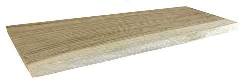 Wandregal, Eiche, massiv, Holz, Regal, Baumkante, rustikal Wandboard (60cm)