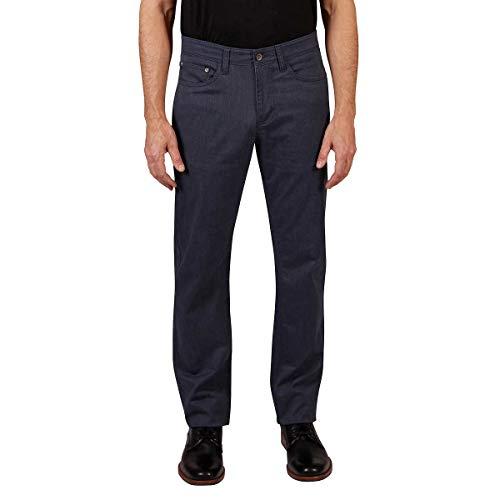 Weatherproof Vintage Men's 5 Pocket Twill Pant (36x34, Navy Heather)