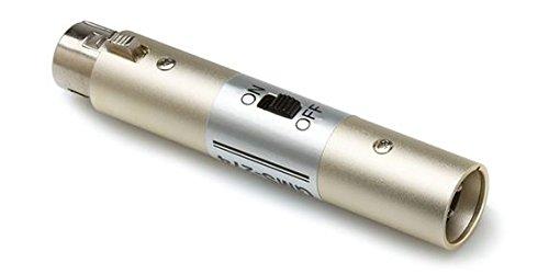 Hosa GMS274 - Interruttore microfono, con connettore XLR femmina a 3 poli su XLR maschio a 3 poli